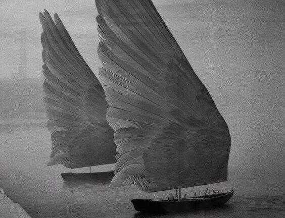 날개 돛단배