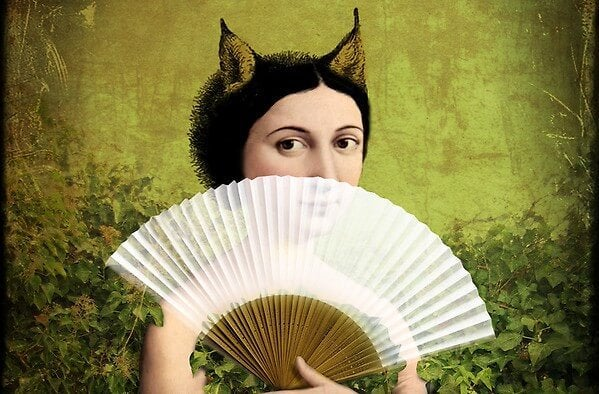 부채 든 소녀: 자신의 내면에 있는 악마의 유혹에 빠지지 말라
