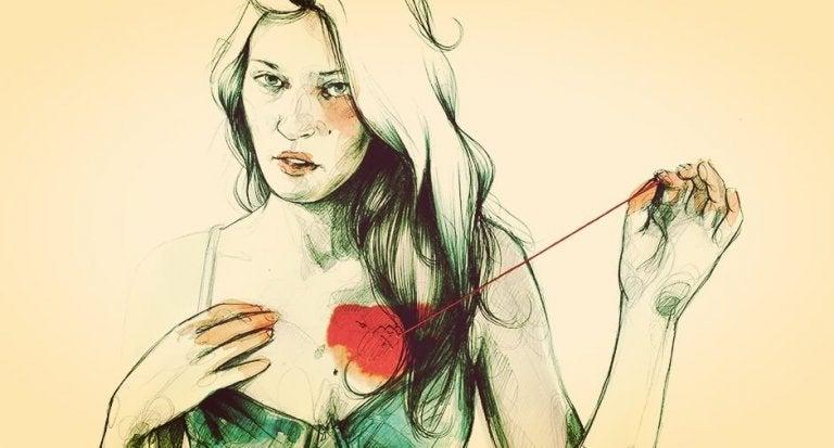 심장 꿰매는 여자