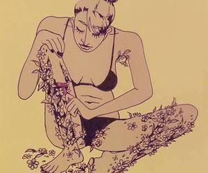 꽃을 미는 여자