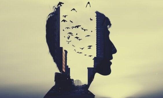 남자 열린 머리 새