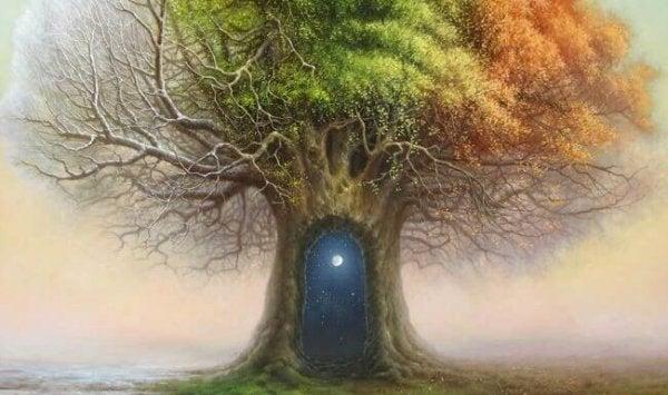 다른 세계로의 나무 문