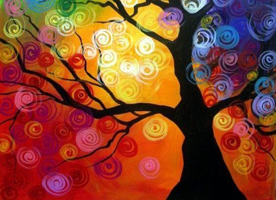 색색깔 나무 그림