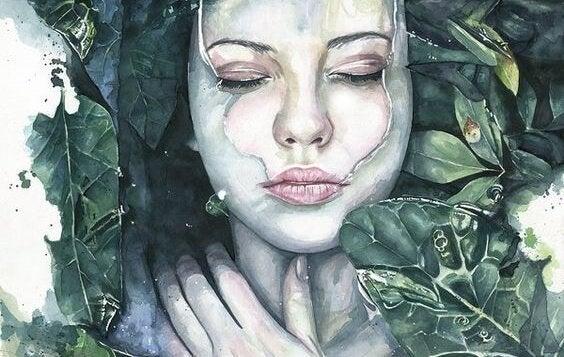 나뭇잎 여자