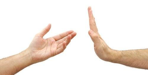 두 개의 손 사진