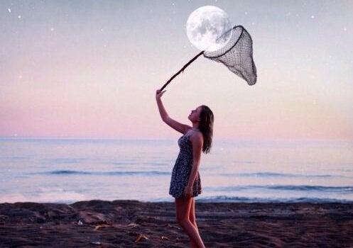 달을 잡는 소녀