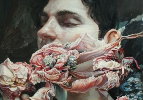 남자 꽃 얼굴