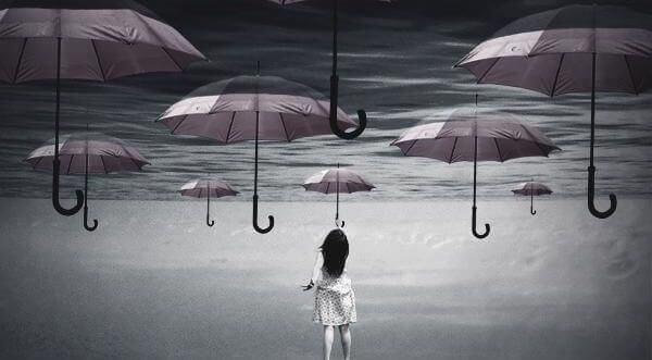 떠다니는 우산