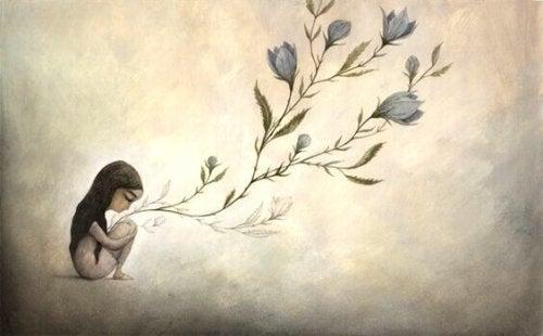 슬픈 소녀 꽃