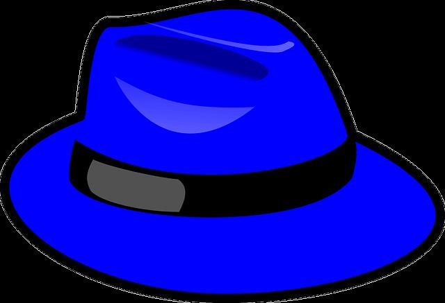파란 중절모 그림