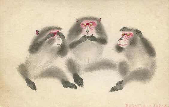 동조궁에 있는 세 마리 현명한 원숭이의 교훈