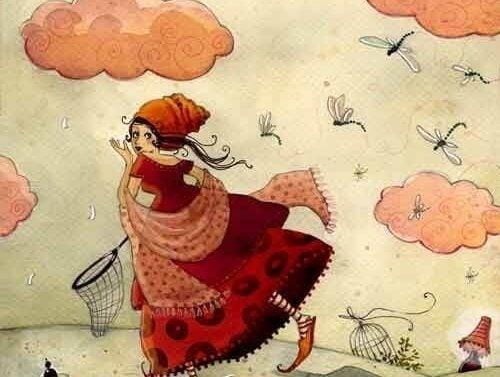 빨강 드레스 여자