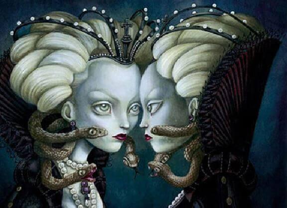 여자 뱀: 죄책감의 단짝 친구: 의심과 불안감