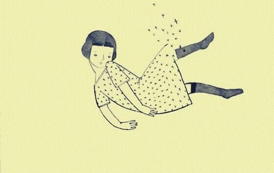 떨어지는 소녀