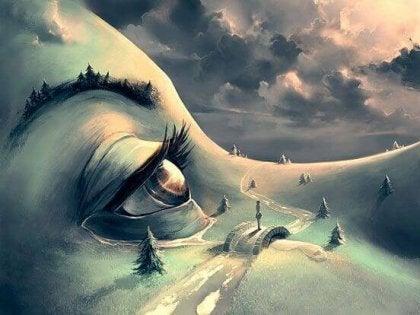 사람 눈 지형: 어려울 때 용감한 결정을 내리는 사람을 좋아한다