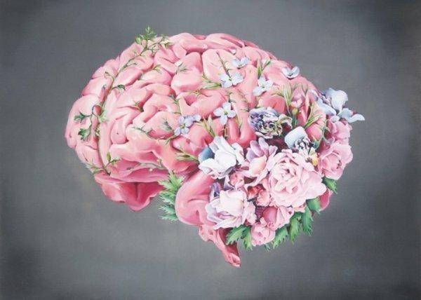 꽃이 핀 인간의 두뇌