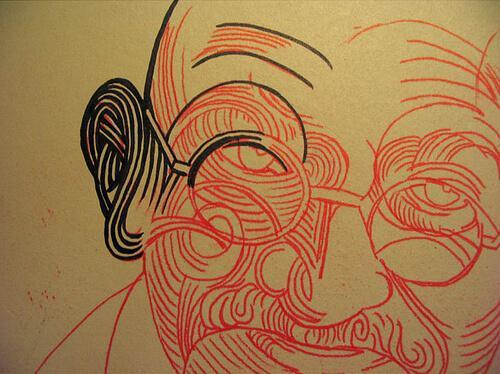 마하트마 간디 그림