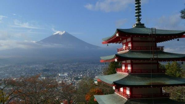 일본 후지산 풍경