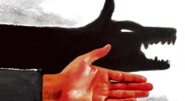 숨어있는 늑대 그림자