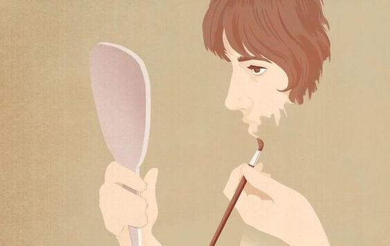 자신을 그리는 남자 그림