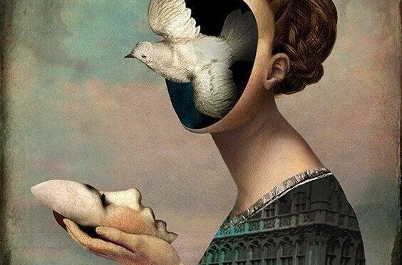 여자와 새