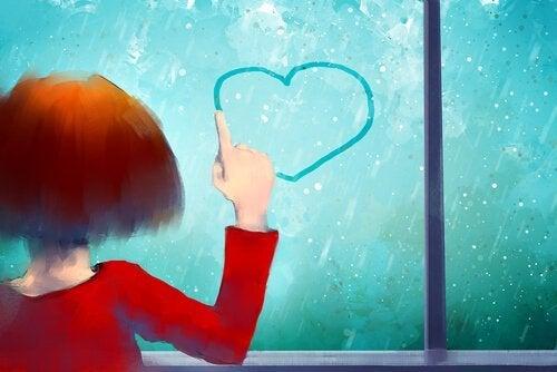 하트 그리는 소녀: 스스로를 사랑하고 보호하라