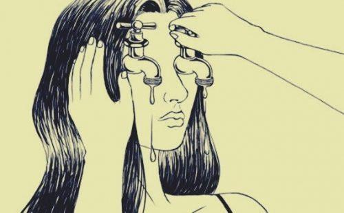 불안을 느끼는 여자