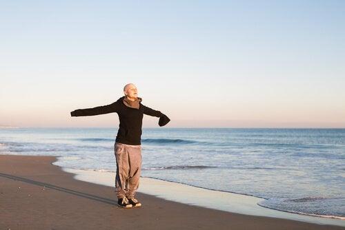 유방암에 걸린 여성을 위한 휴식