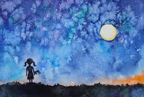 자신의 내적인 빛: 별을 보고 자신의 빛을 찾은 소녀