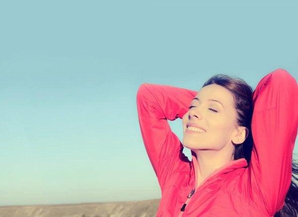 행복한 여성