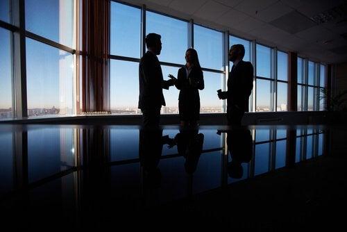 고층건물에서 회의