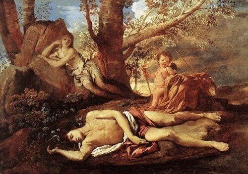 누워있는 나르키소스