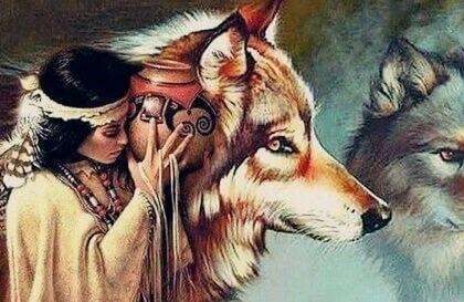 다코타 전설 속의 여자, 그리고 늑대