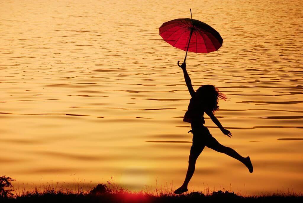 우산을 든 여자