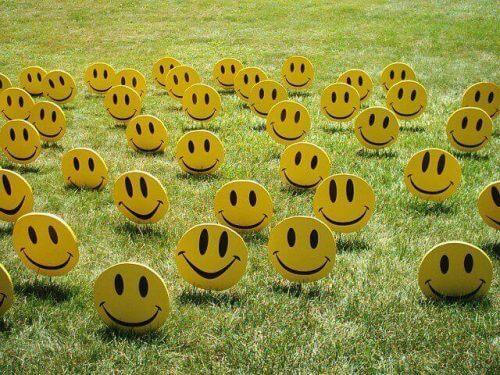 심리학 노란 행복한 얼굴