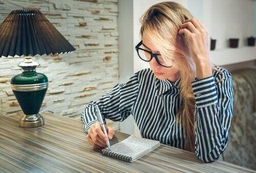 가장 일반적인 치료 글쓰기 과제는 무엇일까?