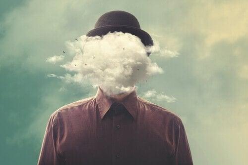 남자 얼굴 구름