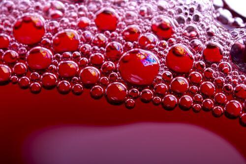 환공포증 빨간색 거품