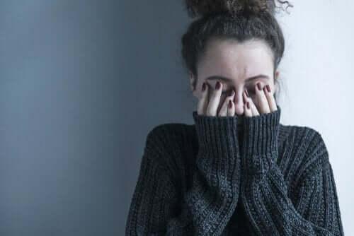 우울증 및 불안 치료법: 울고있는 여자