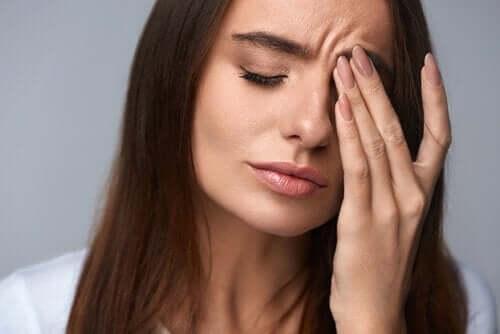 비타민 C 스트레스를 받는 여성