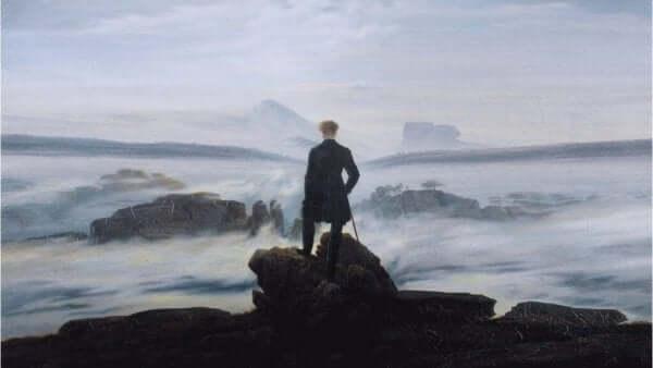 쇠렌 키르케고르 뒷모습을 담은 그림
