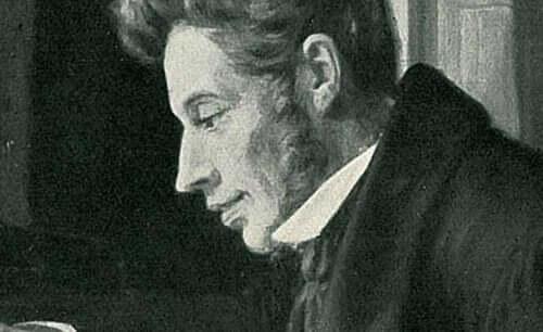 쇠렌 키르케고르의 옆모습 그림