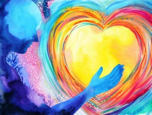 색칠 심장