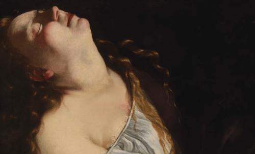 아르테미시아 젠틸레스키 - 고개를 젖힌 여성