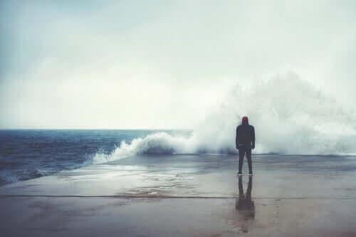 인간의 본능 - 바닷가에 서 있는 남자