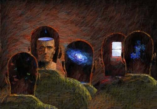 사람들의 머리를 보여주는 그림