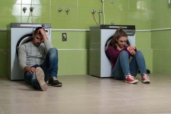 관계의 문제에 직면한 커플