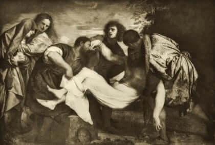 티치아노 - 그리스도 매장
