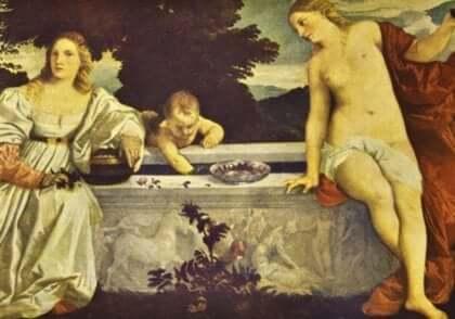 티치아노 - 천사와 세속의 사랑