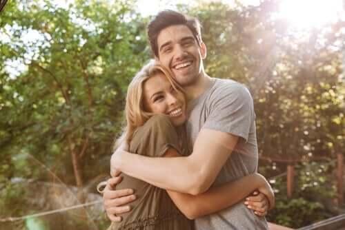 행복한 인생 - 행복한 표정의 커플